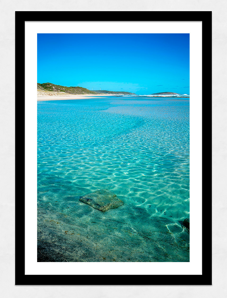 Jason Mazur - 'Esperance Waters 003' Black Frame