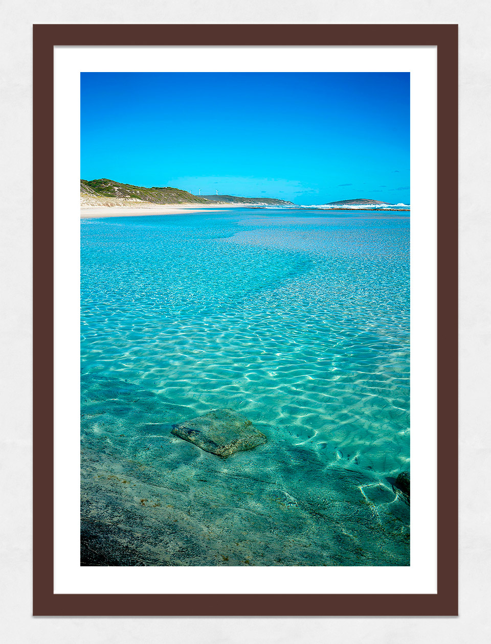 Jason Mazur - 'Esperance Waters 003' Dark Wood Frame