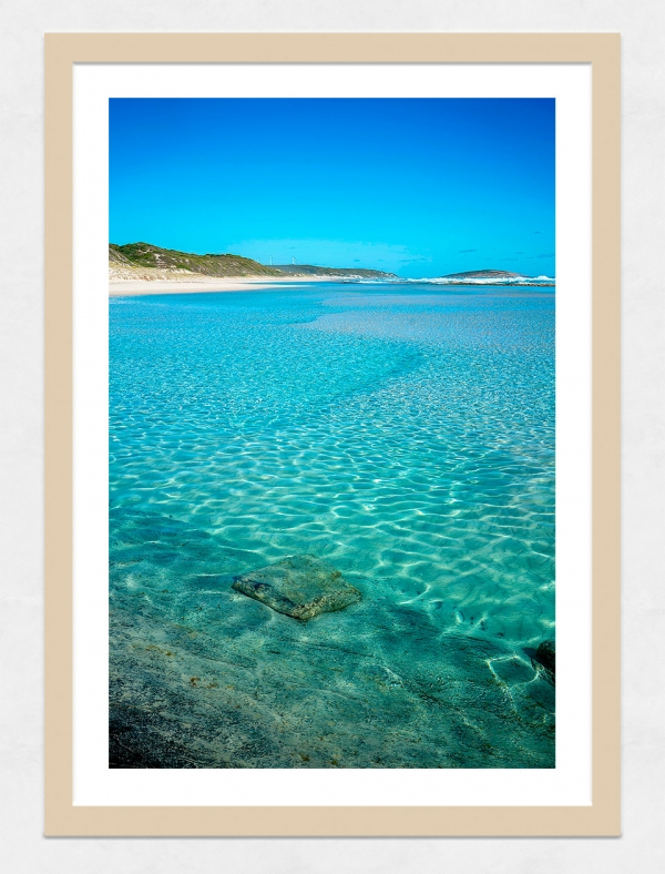 Jason Mazur - 'Esperance Waters 003' Light Wood Frame