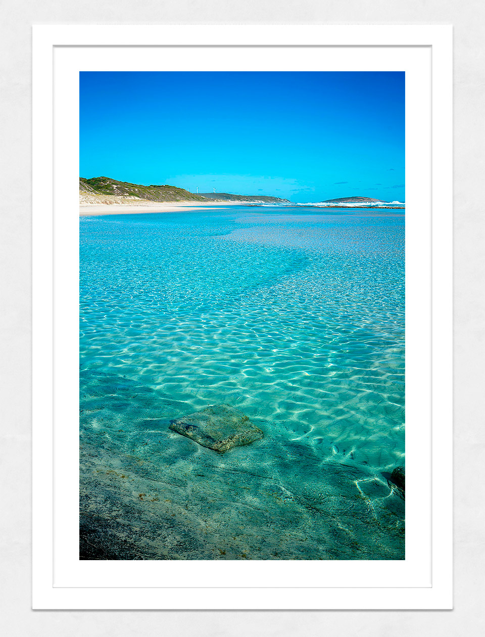 Jason Mazur - 'Esperance Waters 003' White Frame