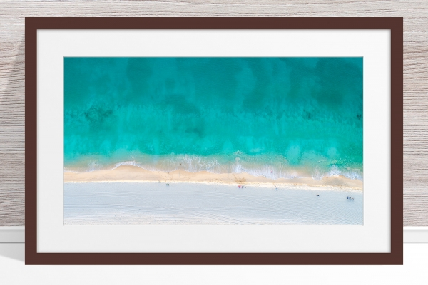 Jason Mazur - 'Floreat Beach 0624' Dark Wood Frame