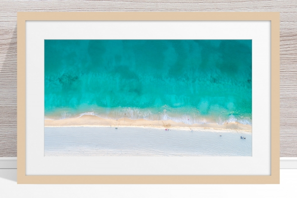 Jason Mazur - 'Floreat Beach 0624' Light Wood Frame