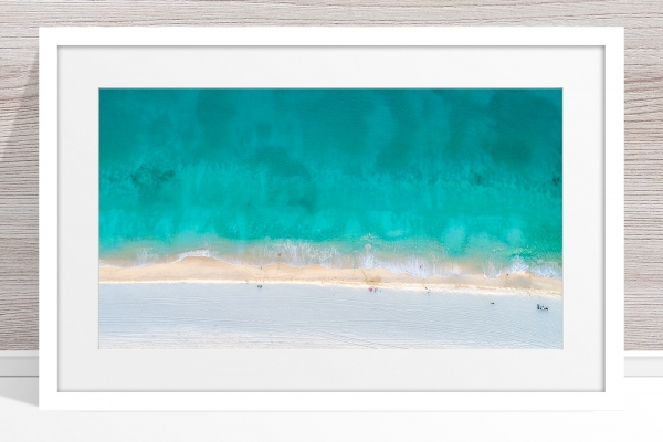 Jason Mazur - 'Floreat Beach 0624' White Frame
