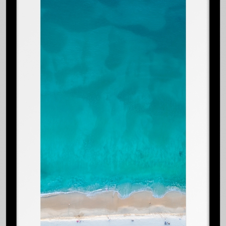 Jason Mazur - 'Floreat Beach 0627' Black Frame