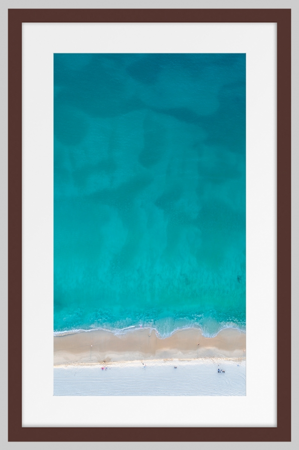 Jason Mazur - 'Floreat Beach 0627' Dark Wood Frame