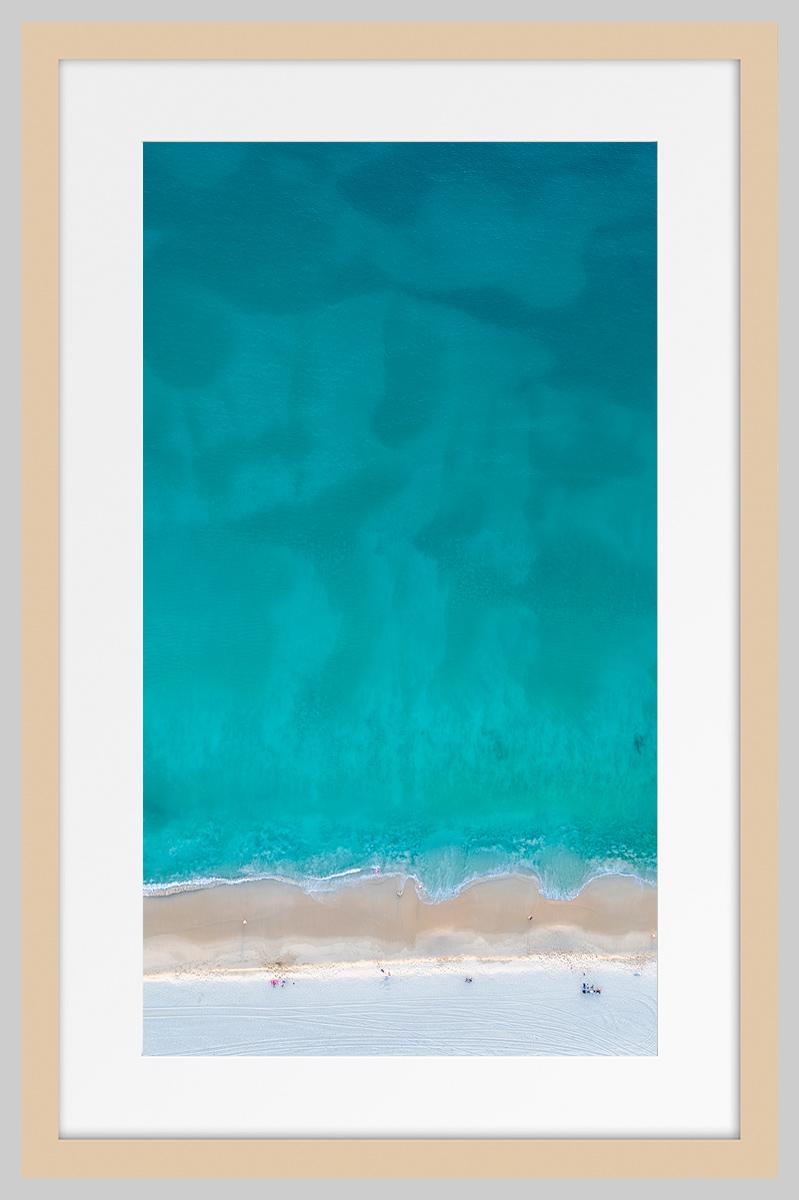 Jason Mazur - 'Floreat Beach 0627' Light Wood Frame