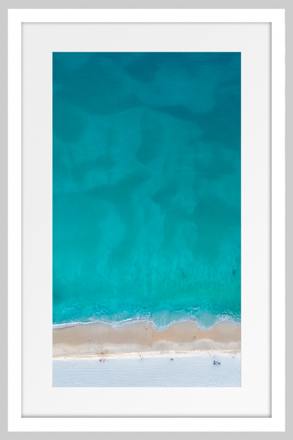 Jason Mazur - 'Floreat Beach 0627' White Frame