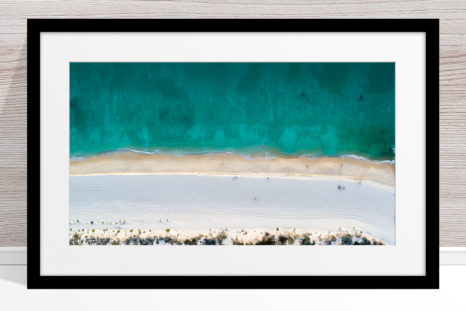 Jason Mazur - 'Floreat Beach 0554' Black Frame