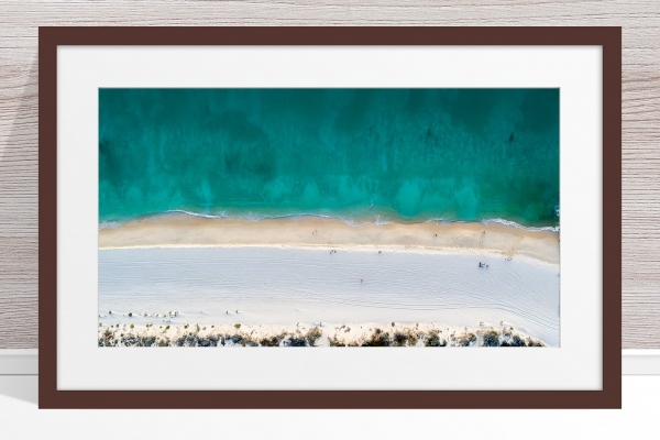 Jason Mazur - 'Floreat Beach 0554' Dark Wood Frame