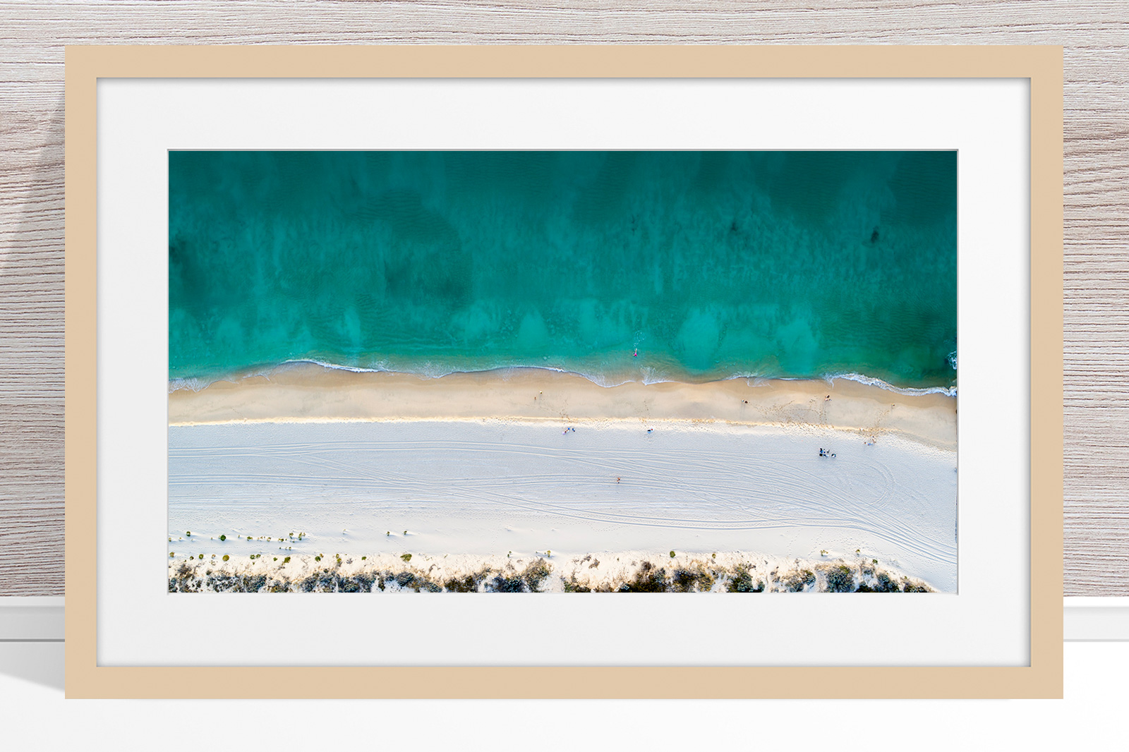 Jason Mazur - 'Floreat Beach 0554' Light Wood Frame