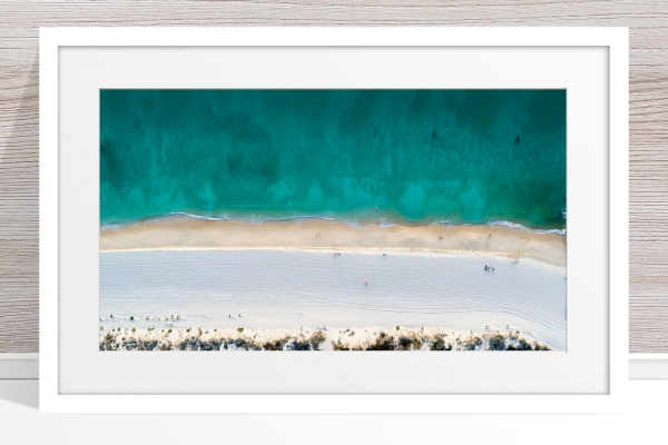 Jason Mazur - 'Floreat Beach 0554' White Frame