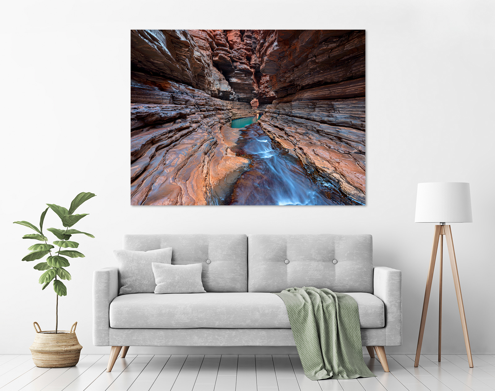 Jason Mazur - 'Kermits Pool, Hancock Gorge 037' in a room