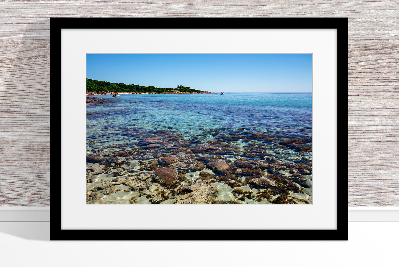 Jason Mazur - 'Meelup Coastline, Dunsborough 012' Black Frame