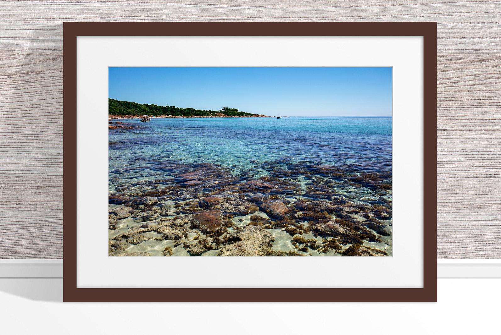 Jason Mazur - 'Meelup Coastline, Dunsborough 012' Dark Wood Frame