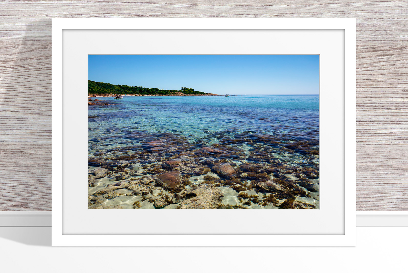 Jason Mazur - 'Meelup Coastline, Dunsborough 012' White Frame