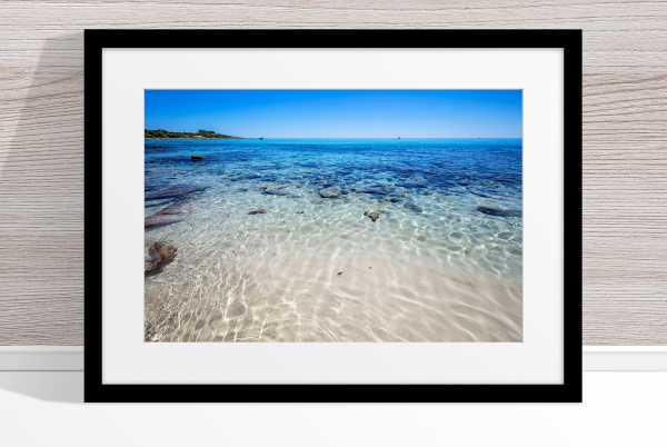 Jason Mazur - 'Meelup Coastline, Dunsborough 013' Black Frame
