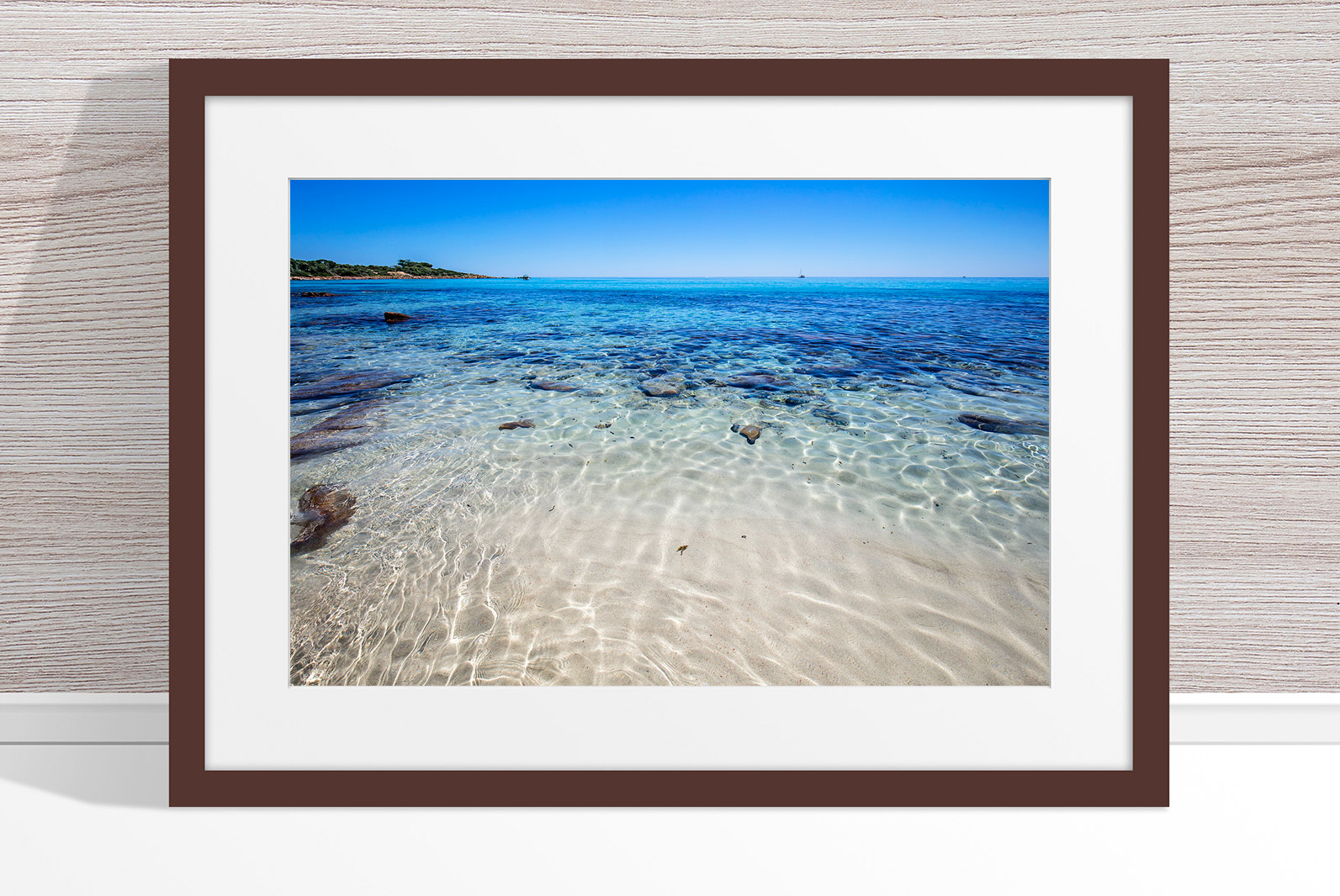 Jason Mazur - 'Meelup Coastline, Dunsborough 013' Dark Wood Frame