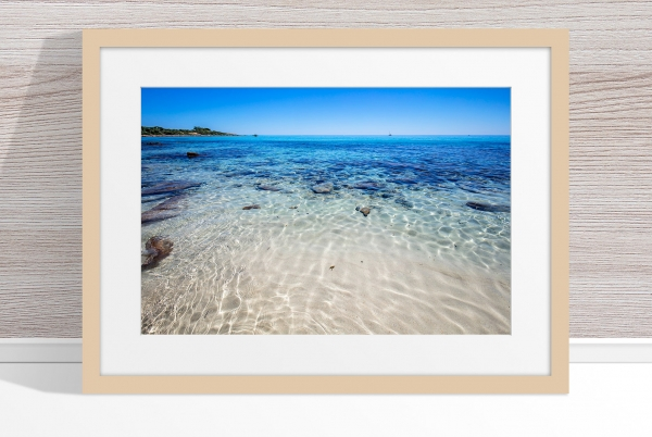 Jason Mazur - 'Meelup Coastline, Dunsborough 013' Light Wood Frame