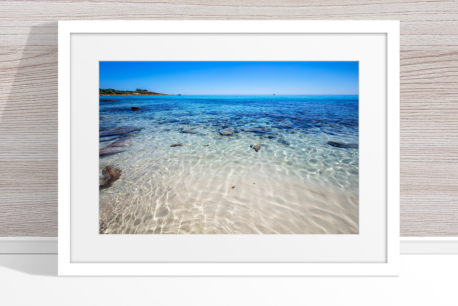 Jason Mazur - 'Meelup Coastline, Dunsborough 013' White Frame