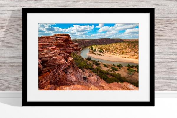 Jason Mazur - 'Murchison River Gorge 005' Black Frame