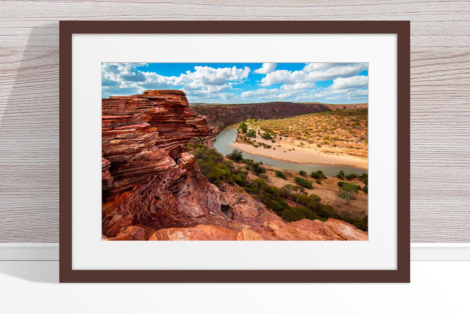 Jason Mazur - 'Murchison River Gorge 005' Dark Wood Frame
