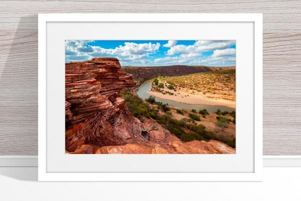 Jason Mazur - 'Murchison River Gorge 005' White Frame