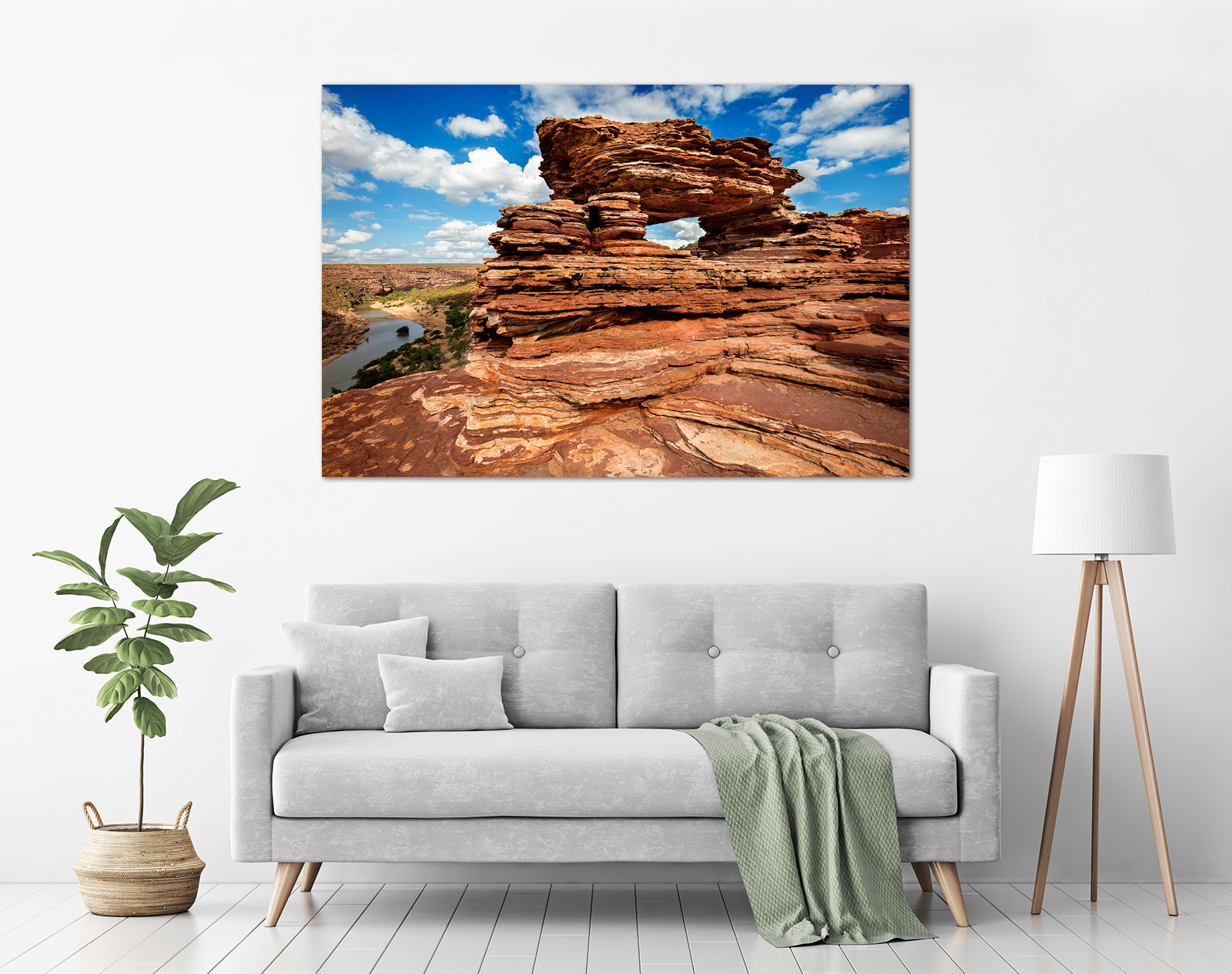 Jason Mazur - 'Nature's Window, Kalbarri 006' in a room