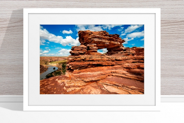 Jason Mazur - 'Nature's Window, Kalbarri 006' White Frame