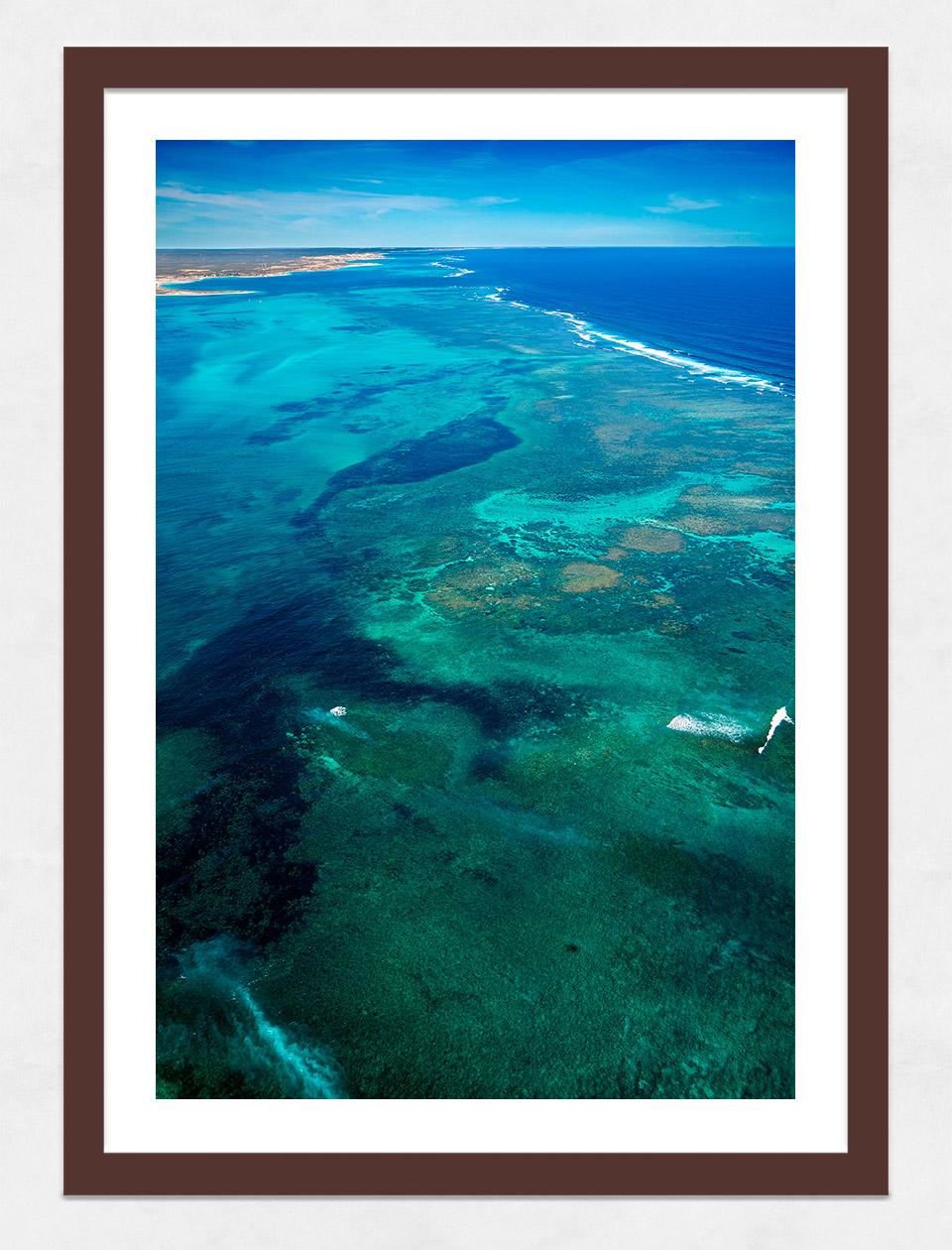 Jason Mazur - 'Ningaloo Reef, Coral Bay 013' Dark Wood Frame