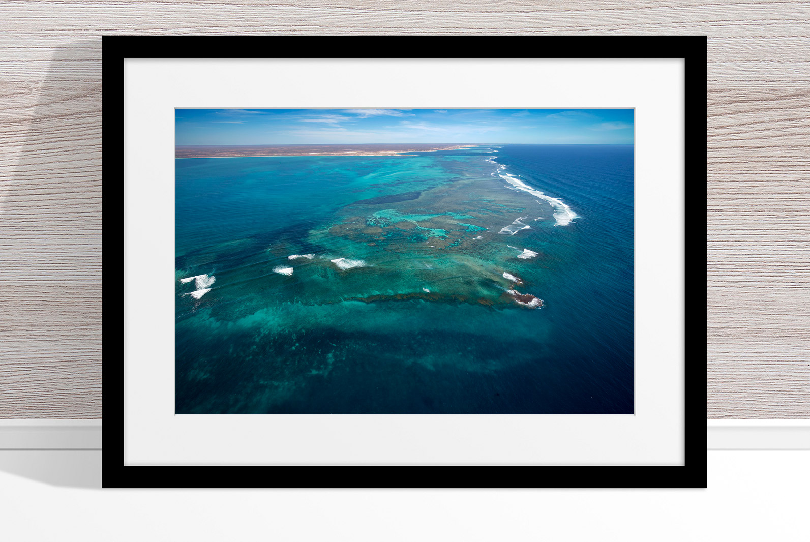 Jason Mazur - 'Ningaloo Reef, Coral Bay 014' Black Frame