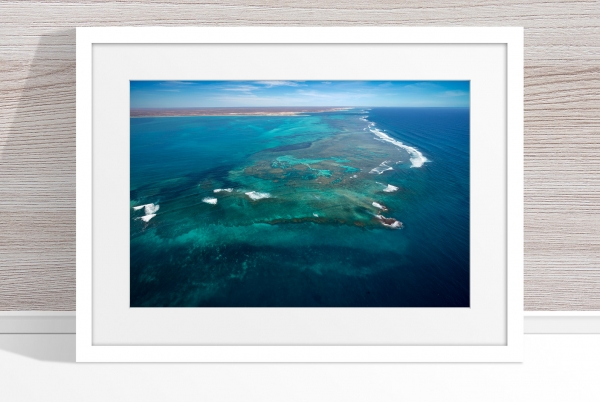 Jason Mazur - 'Ningaloo Reef, Coral Bay 014' White Frame