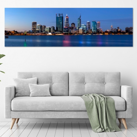 Jason Mazur - 'Evening Skyline, Perth 004' in a room