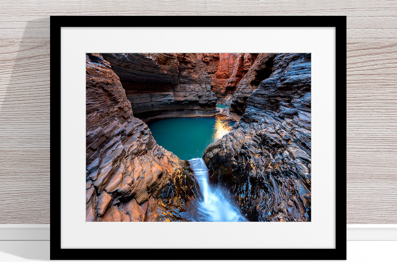 Jason Mazur - 'Regan's Pool, Hancock Gorge 036' Black Frame
