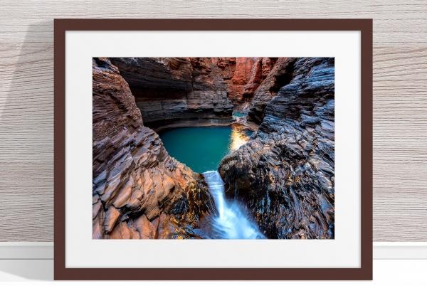 Jason Mazur - 'Regan's Pool, Hancock Gorge 036' Dark Wood Frame