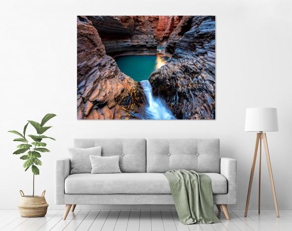 Jason Mazur - 'Regan's Pool, Hancock Gorge 036' in a room