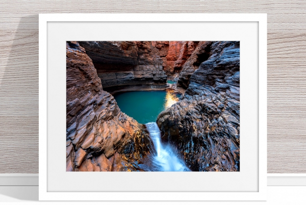 Jason Mazur - 'Regan's Pool, Hancock Gorge 036' White Frame