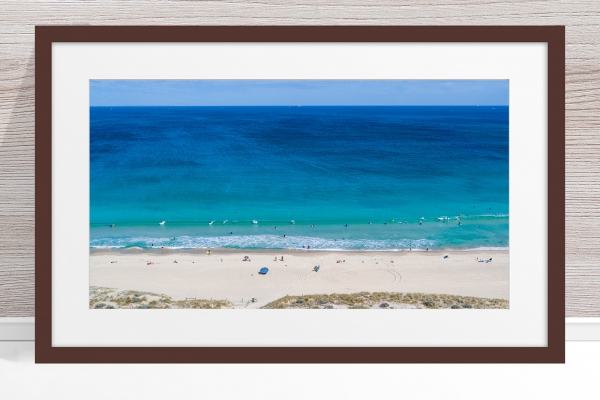 Jason Mazur - 'Scarborough Beach 0702' Dark Wood Frame