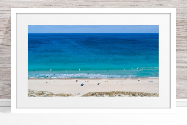 Jason Mazur - 'Scarborough Beach 0702' White Frame
