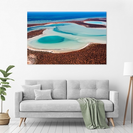 Jason Mazur - 'Big Lagoon, Shark Bay 011' in a room