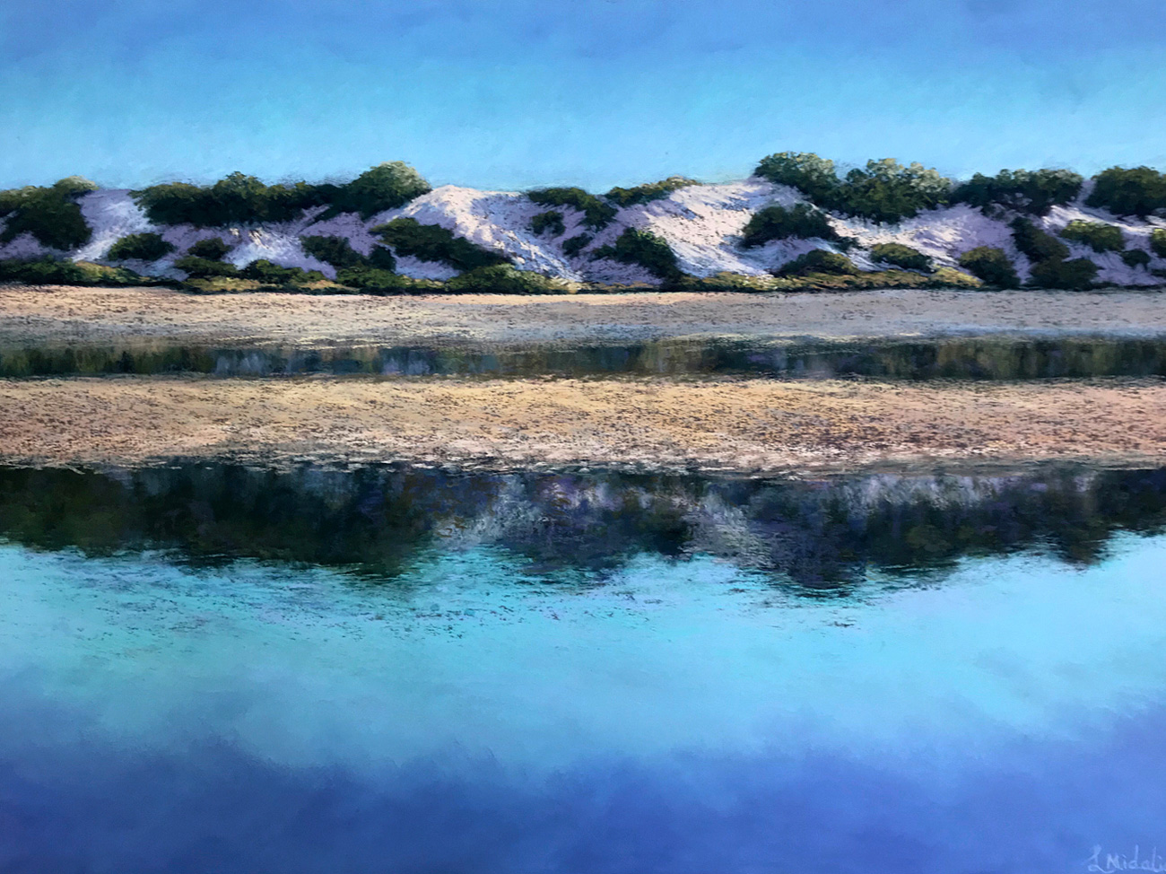 Lindy Midalia - 'Afternoon Salt Lake Reflections'