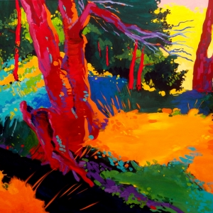 'Study of a Tree at a Creek' by Marek Herburt