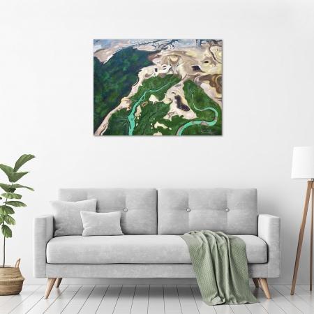 Steve Freestone 'Buccaneer Archipelago Aerial 1' in a room