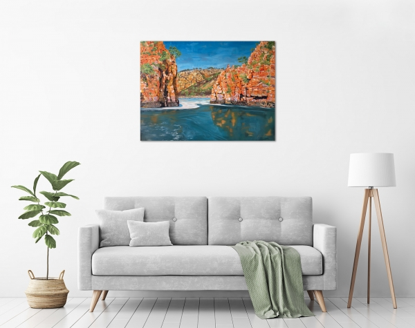 Steve Freestone - 'Horizontal Falls, Buccaneer Archipelago' in a room