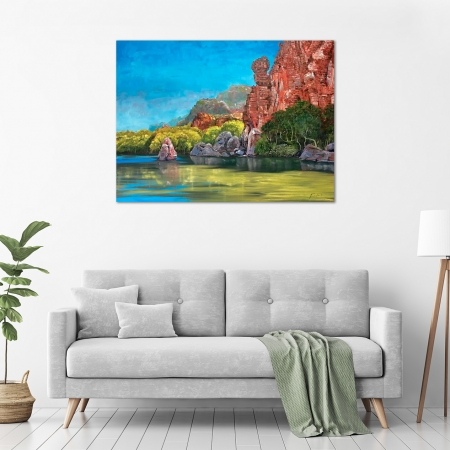 Steve Freestone - 'Katherine Gorge 1' in a room