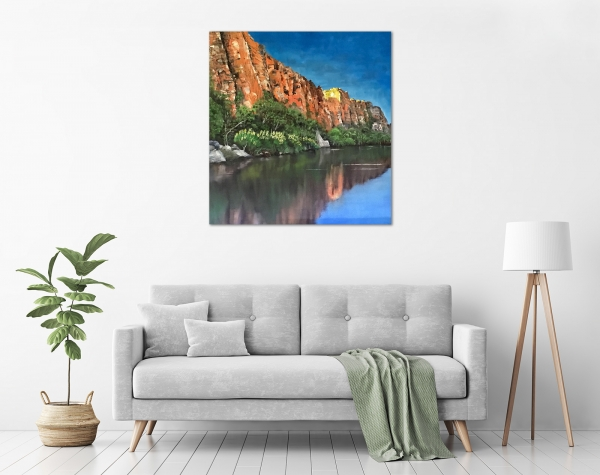 Steve Freestone - 'Reflections, Ord River' in a room