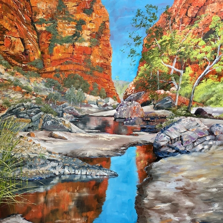 Steve Freestone - 'The Crocodile Sleeps, Simpson's Gap'