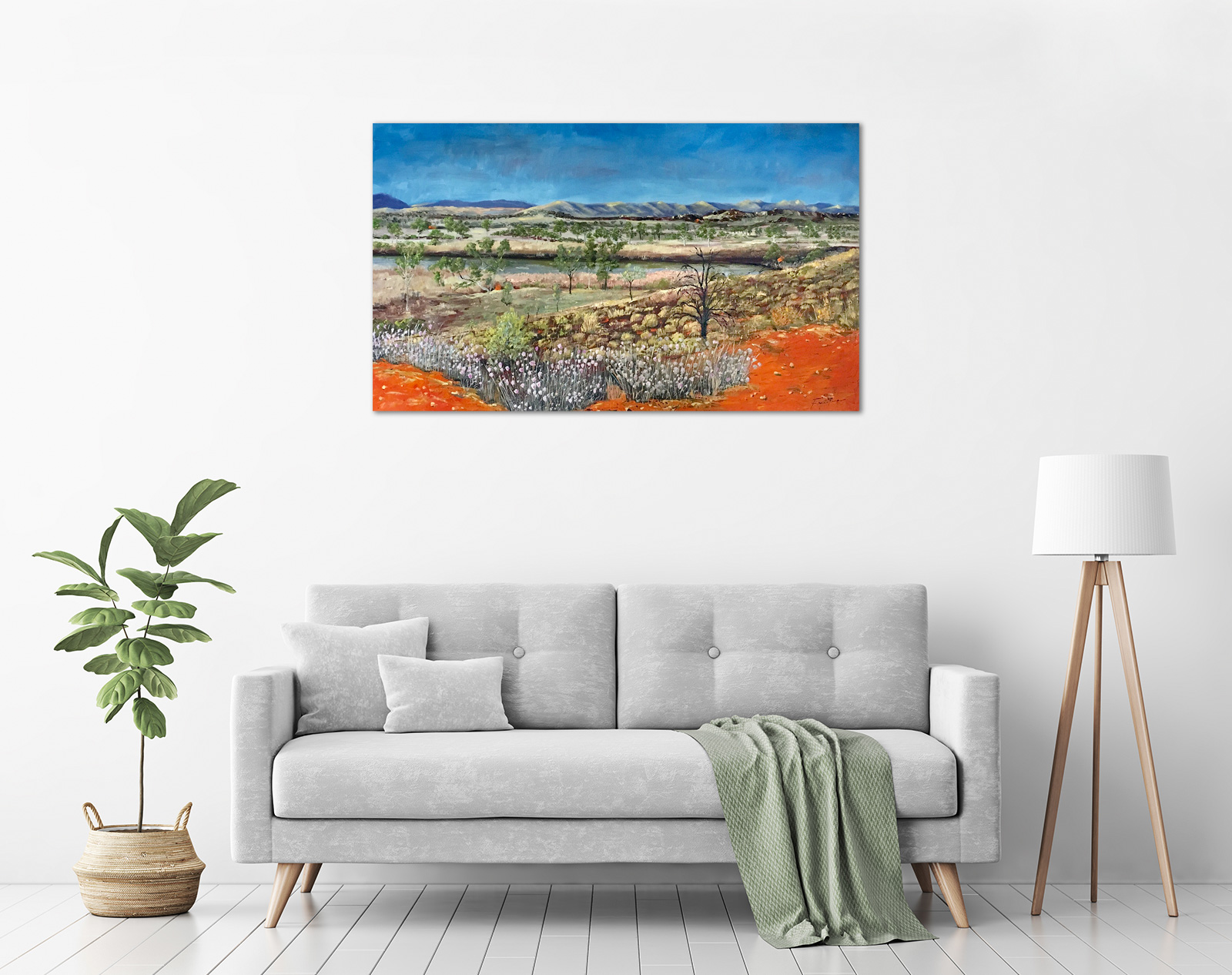 Steve Freestone - 'West MacDonnell Ranges' in a room