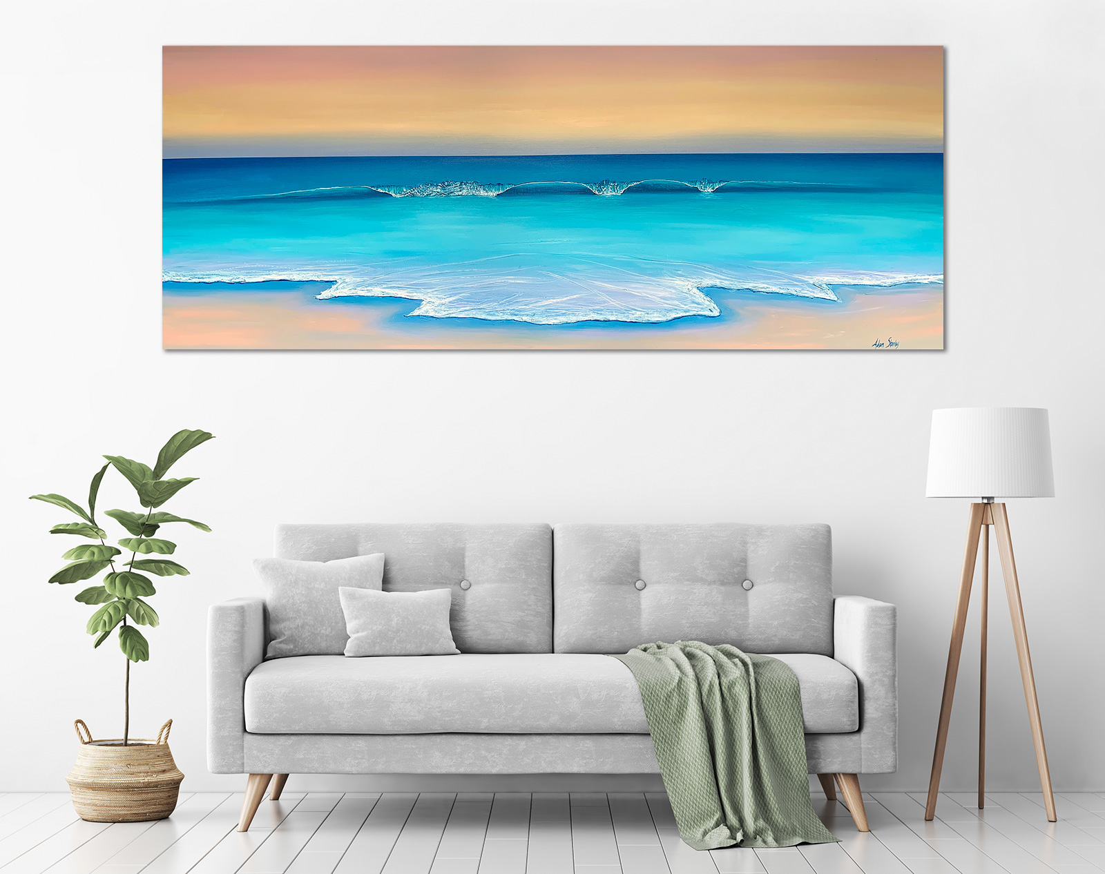 Adam Stanley - 'Boranup Beach Panorama' in a room