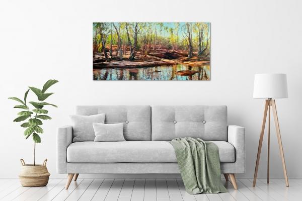 Jana Vodesil-Baruffi - 'Barnett River Crossing' in a room