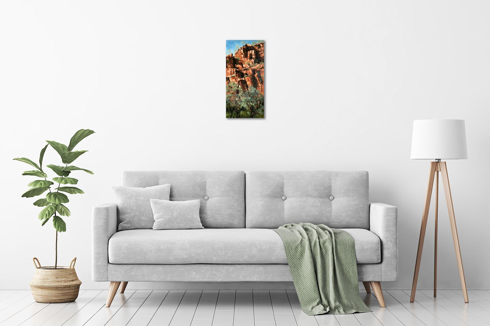 Jana Vodesil-Baruffi - 'Rock Face, Ord River, Kimberley' in a room